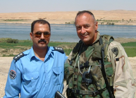 SFC Howard and COL Thanash, Iraq Police